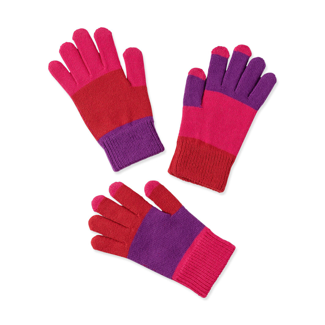 Pair and a Spare Smart Kids' Gloves in color Pink/ Purple