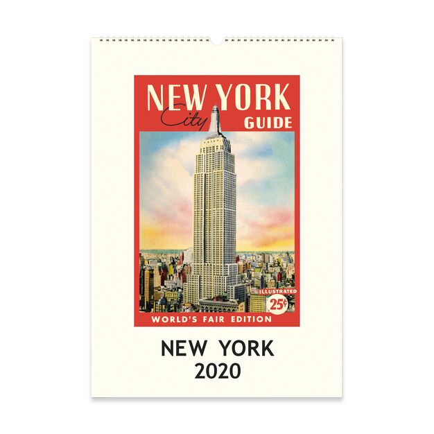 2020 New York Vintage Wall Calendar in color