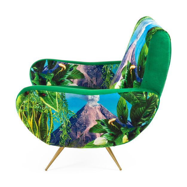Seletti Wears Toiletpaper: Volcano Armchair in color