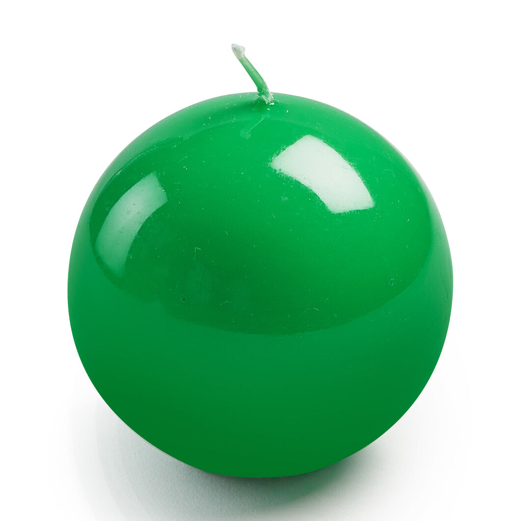Italian Ball Candle in color Green