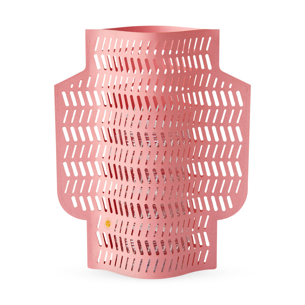 Paper Vase in color Pink
