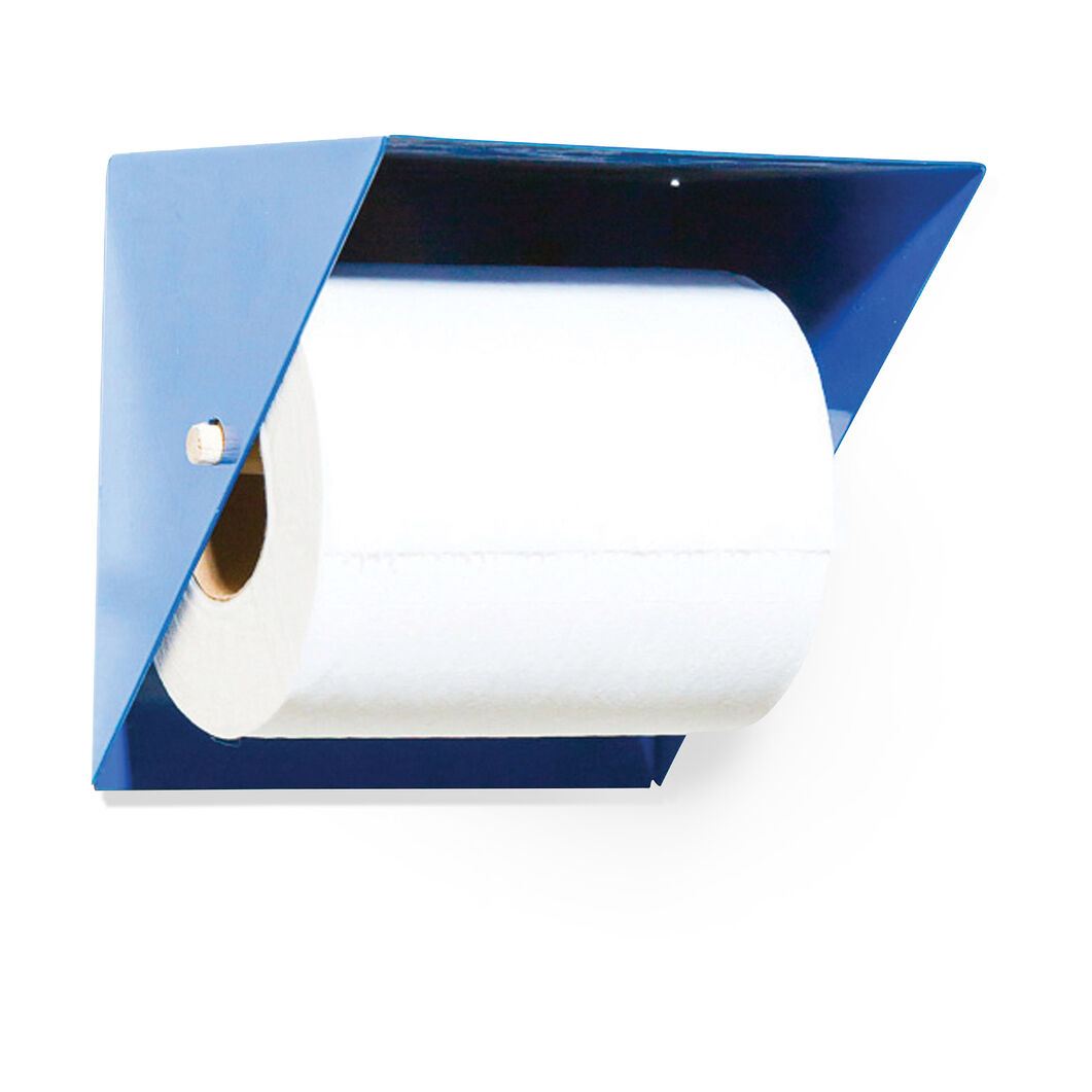Toilet Paper Holder with Shelf in color Blue