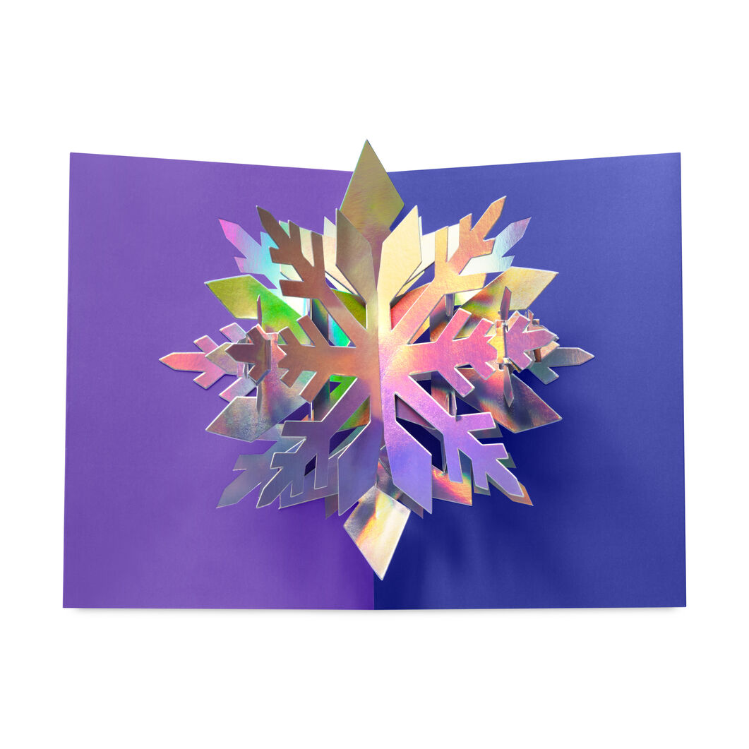 Dazzling Snowflake Holiday Cards - Set of 8 in color