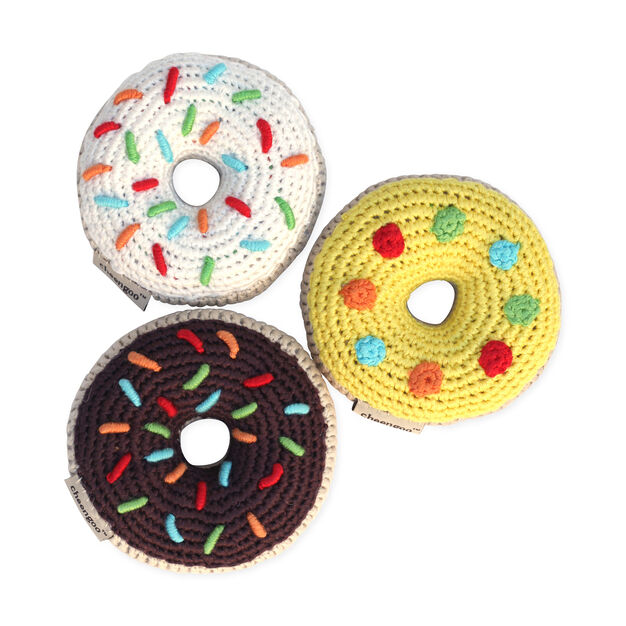 Crocheted Donut Rattle in color