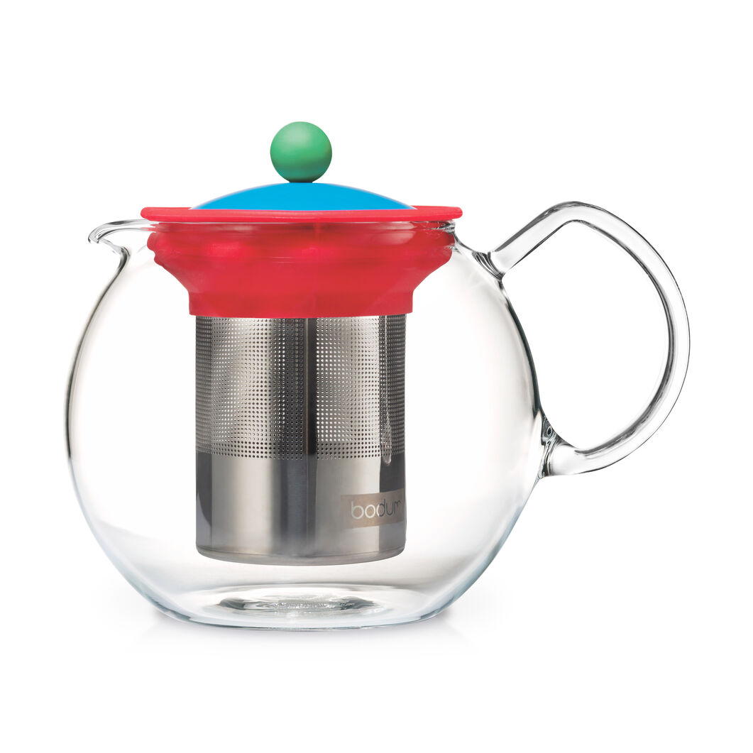 Bodum Assam Brew Teapot in color Blue/ Red