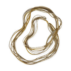 Pleated Necklaces- Gold in color Gold