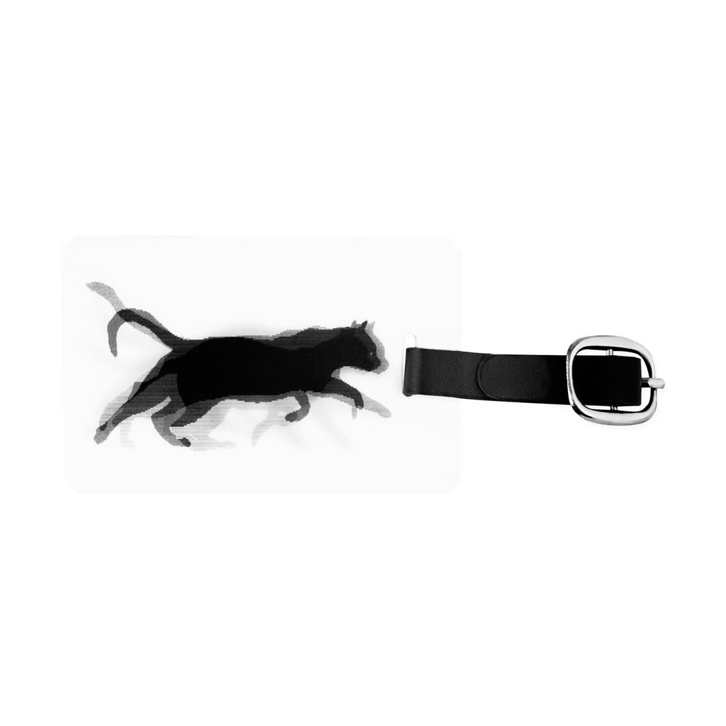 Cat Lenticular Luggage Tag in color