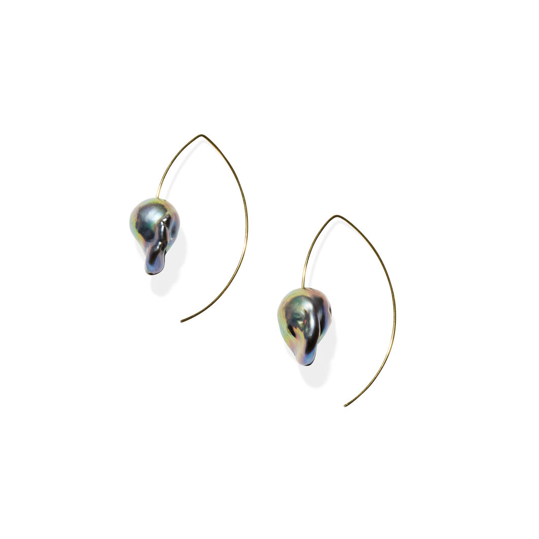 Melissa McArthur Keshi Pearl Earrings in color