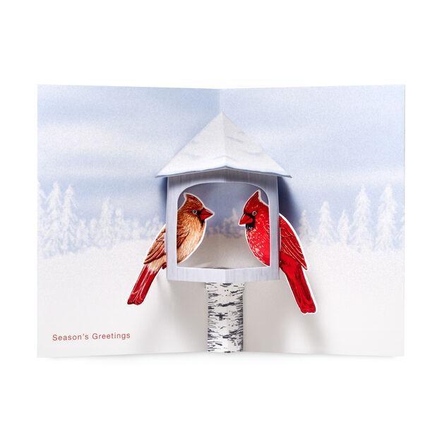 Winter Cardinals Holiday Cards - Set of 8 in color