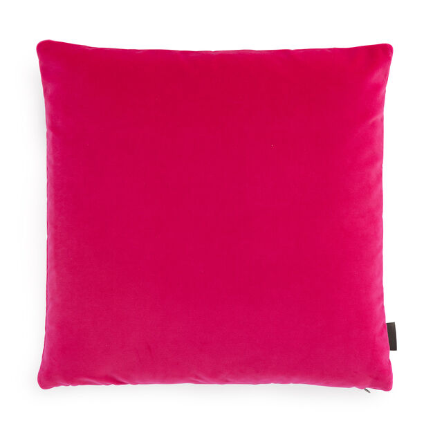 Maharam Cotton Velvet Pillow in color Fuchsia