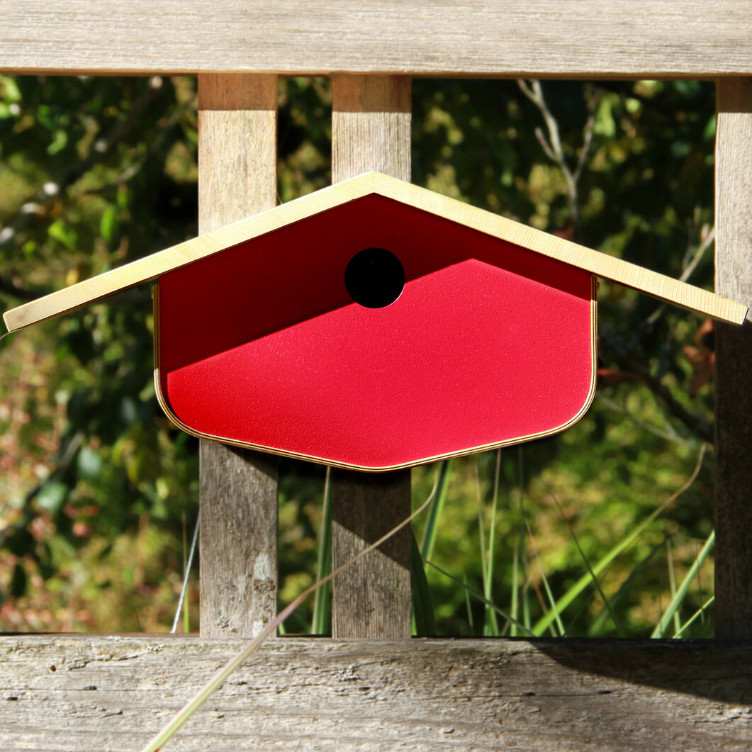 Midcentury Birdhouse in color