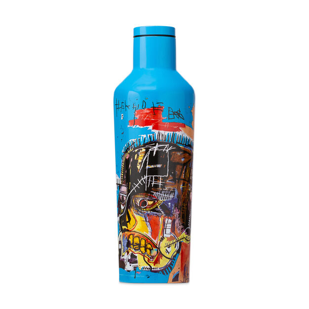 Basquiat Corkcicle Canteens in color Blue/ Multi