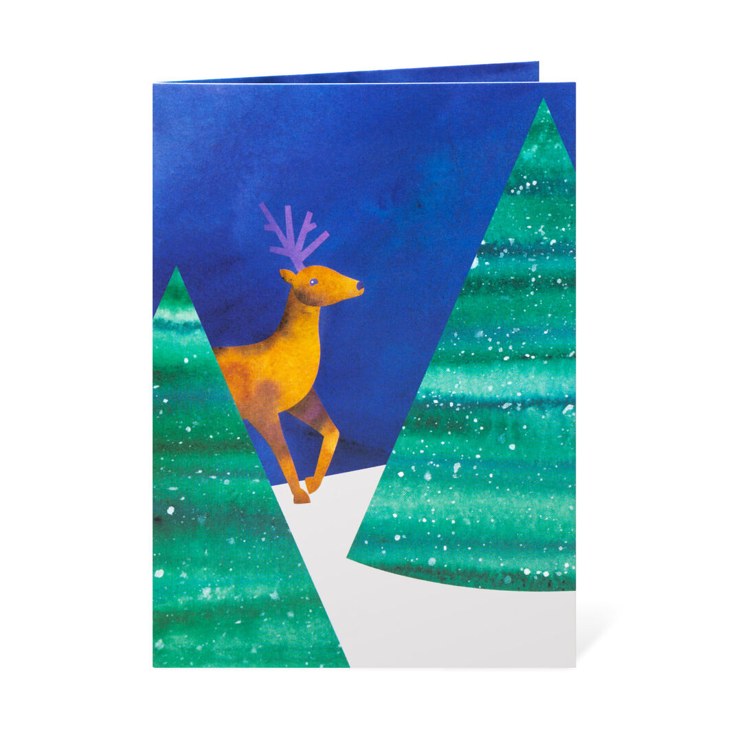 Nestling Deer Holiday Cards in color