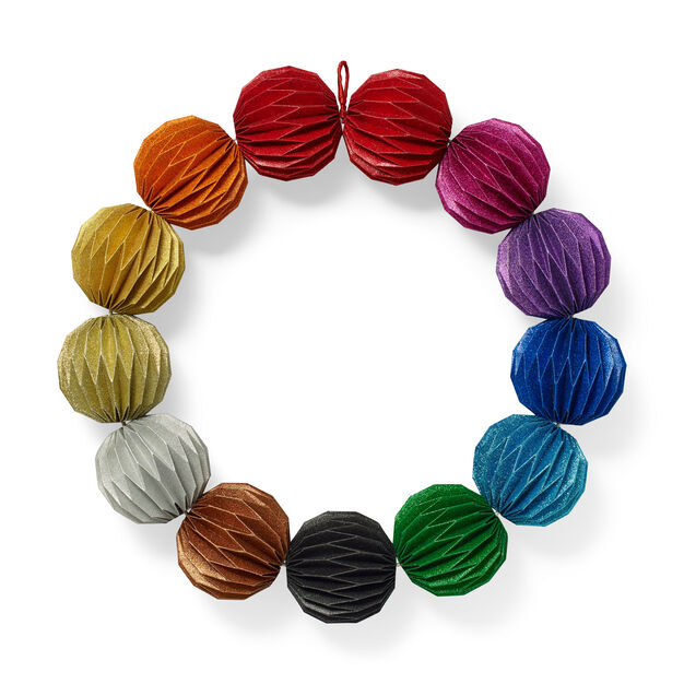 Rainbow Ball Holiday Wreath in color
