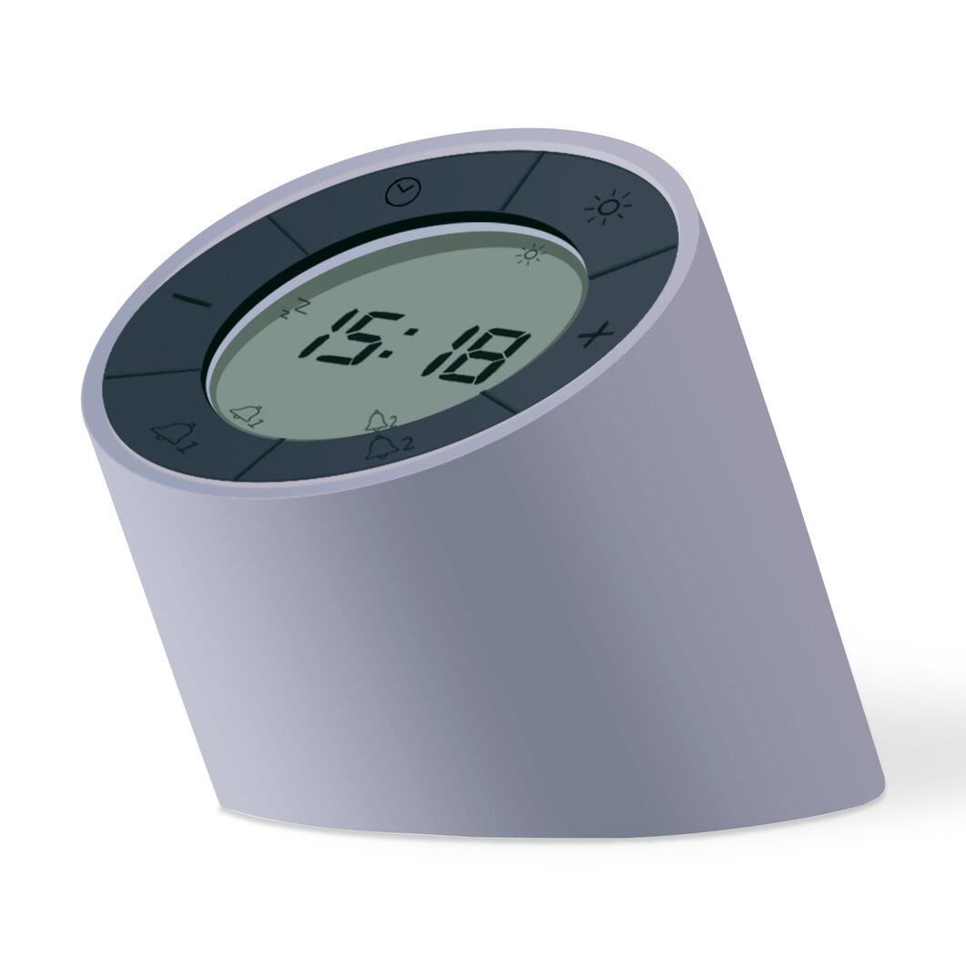 Edge Light Alarm Clock in color Gray