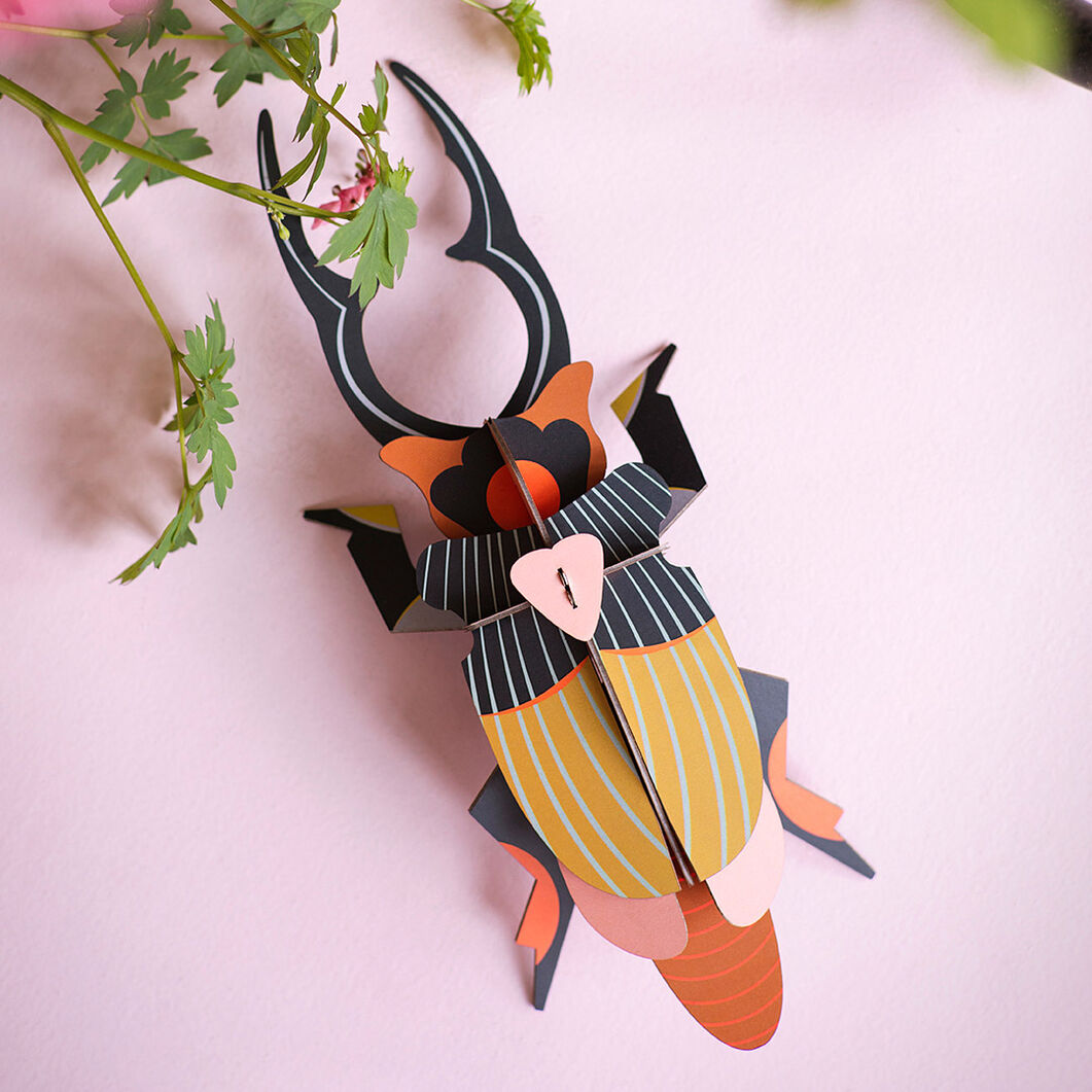 3D DIY Decorative Beetles in color Giant Stag Beetle