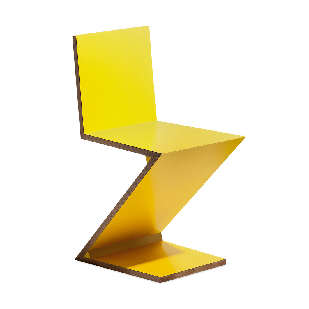 Zig Zag Chair in color Yellow