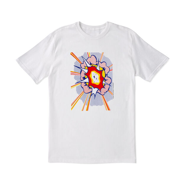 Roy Lichtenstein: Explosion T-Shirt in color White