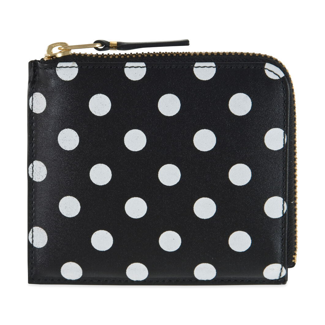 Comme des Garçons SA3100 Black-and-White Polka Dot Wallet in color