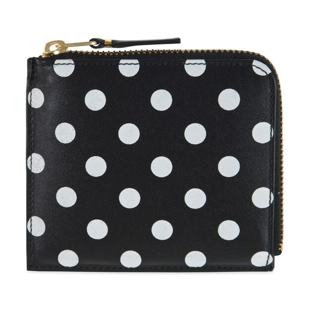 c4afe9ae85ae9a Comme des Gar ccedil ons SA3100 Black-and-White Polka Dot Wallet ...