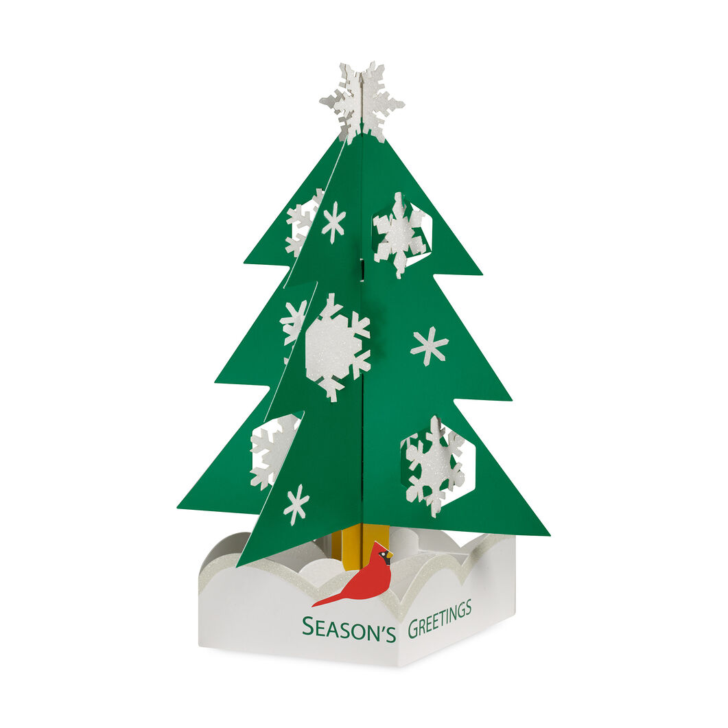 Snowy Pine Holiday Cards (Box of 8) in color