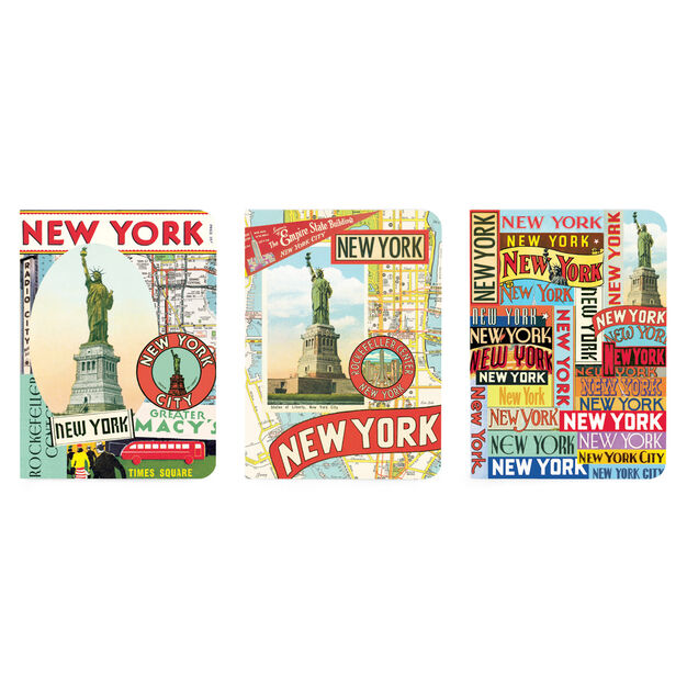 Vintage New York Mini Notebooks in color