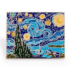 Vincent van Gogh: Starry Night Enamel Pin in color