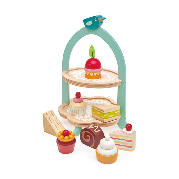 Birdie Afternoon Tea Stand Set in color