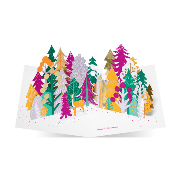 Colorful Forest Holiday Cards in color