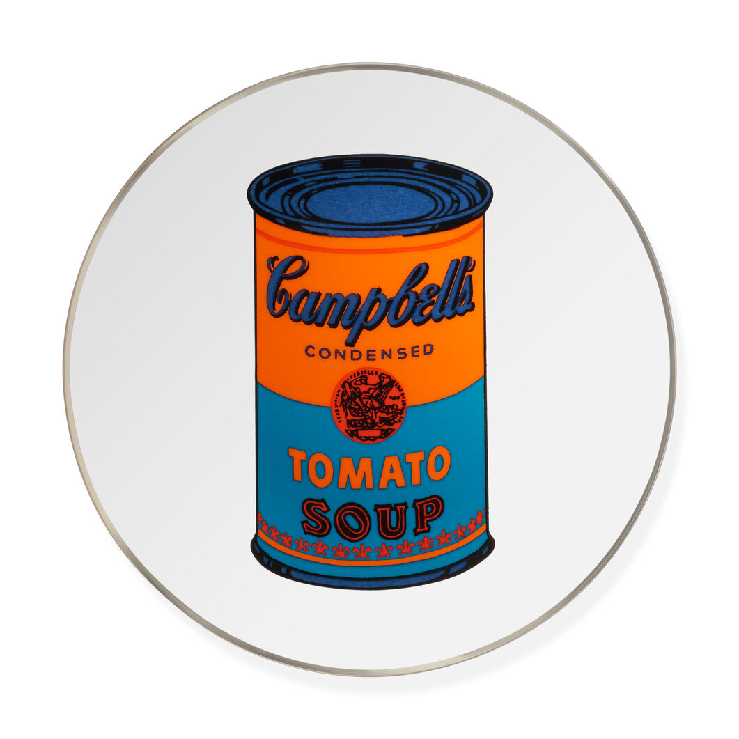 Andy Warhol Soup Can Plate- Blue in color Blue
