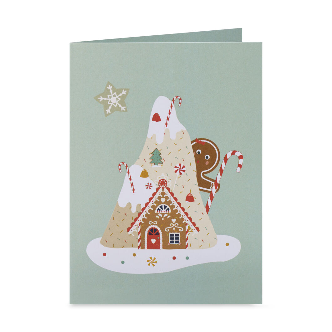Gingerbread Mountain Holiday Cards - Set of 8 in color