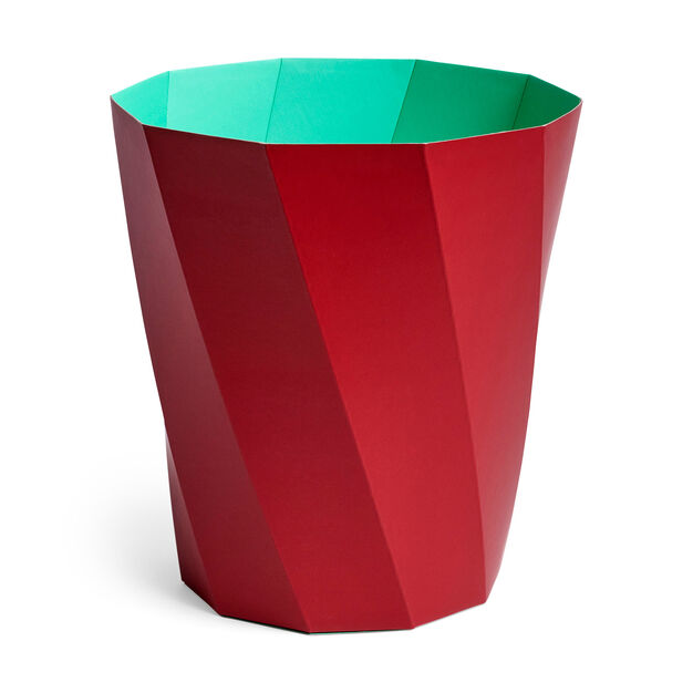 HAY Paper Paper Bin in color Dark Red