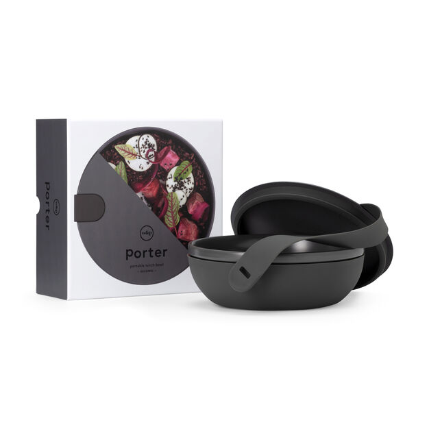Porter Ceramic Travel Bowl in color Charcoal