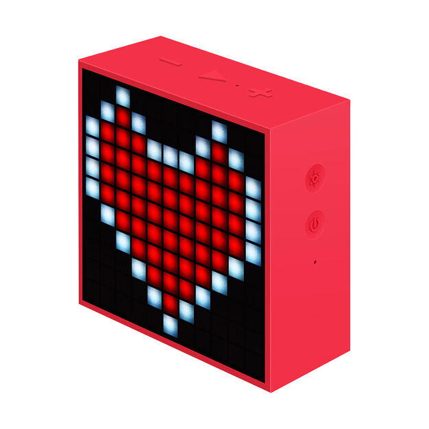 Mini Timebox Clock Speaker in color Red