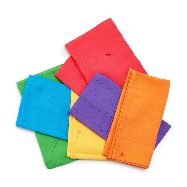 Fold-by-Number Cloth Napkins - Set of 6 in color