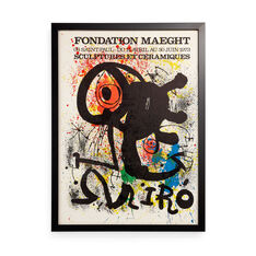 Joan Miró: Fondation Maeght Framed Poster in color