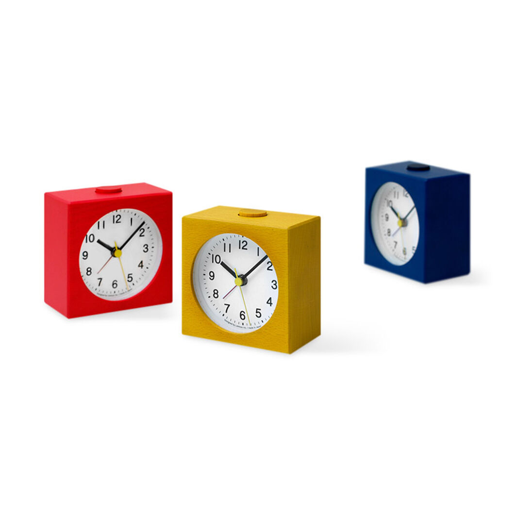 Ruotare Alarm Clocks Blue in color