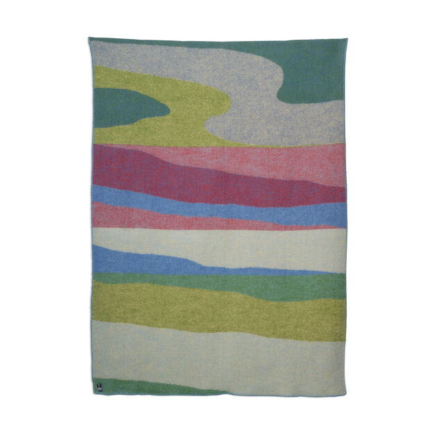 Panoramas Wool Throw in color