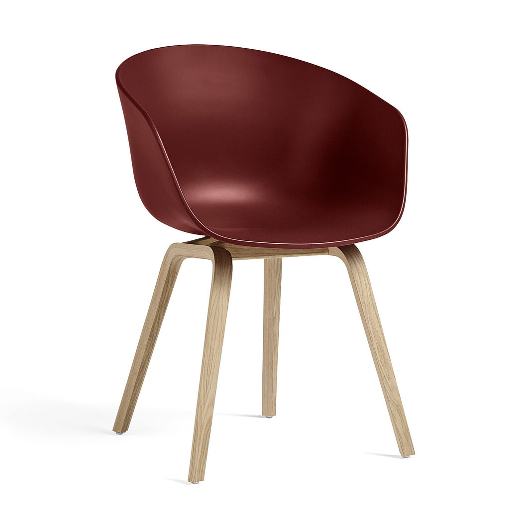 HAY About a Chair 22 in color Brick Red/ Oak