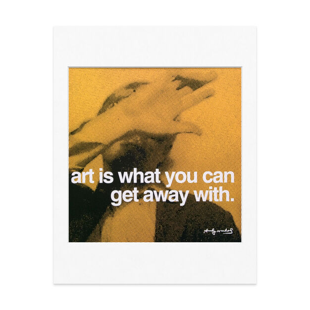 Matted Print Andy Warhol: art is in color