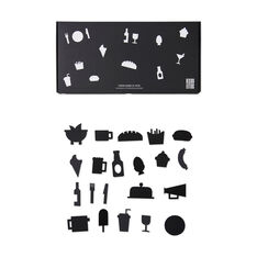 Arne Jacobsen Food Icons in color Black