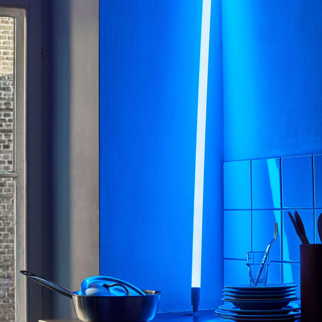 HAY Neon LED Tube Light in color Ice Blue