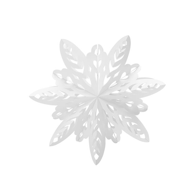 Sparkle Paper Snowflake in color White