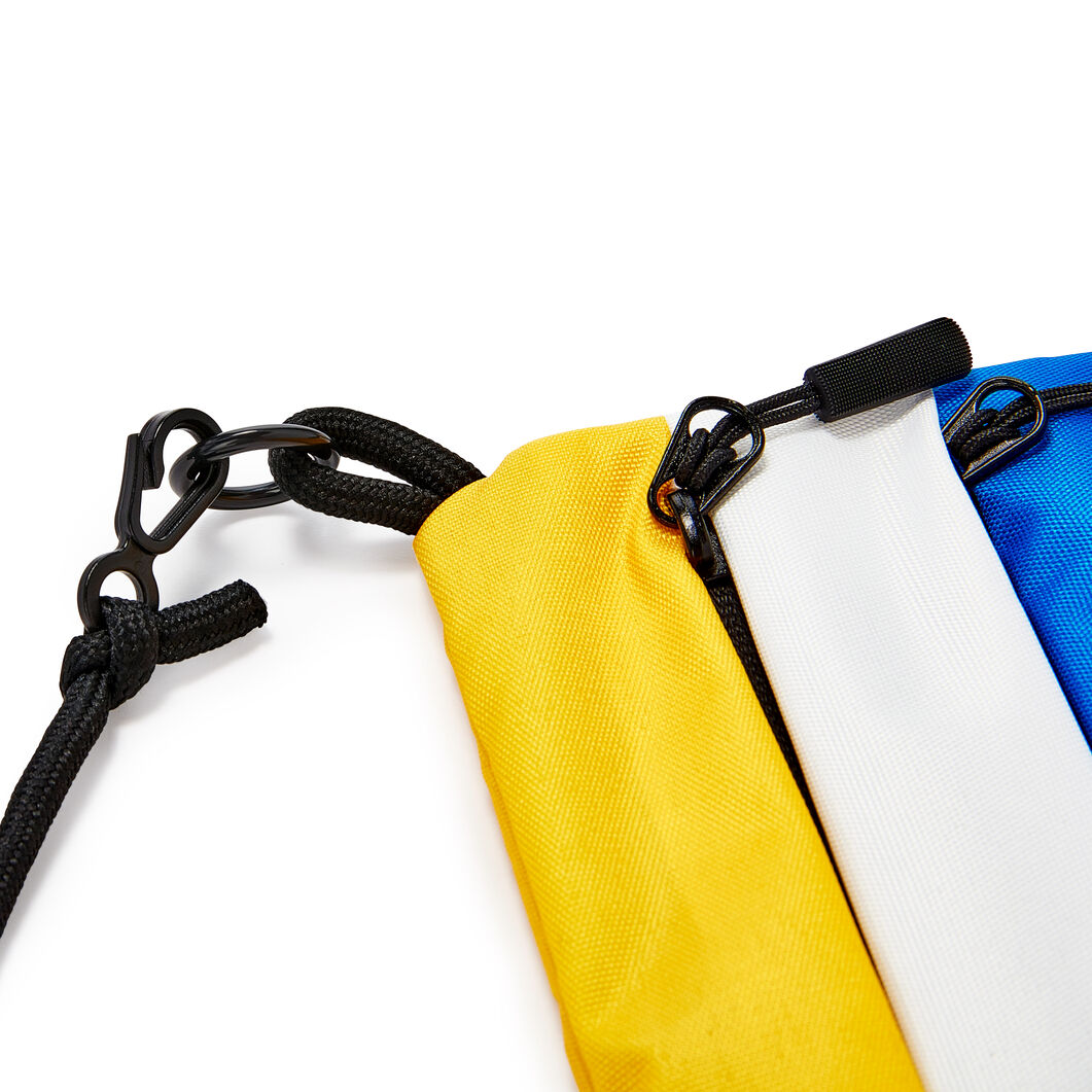 MoMA Logo Colorblock Bag in color Yellow/ Blue