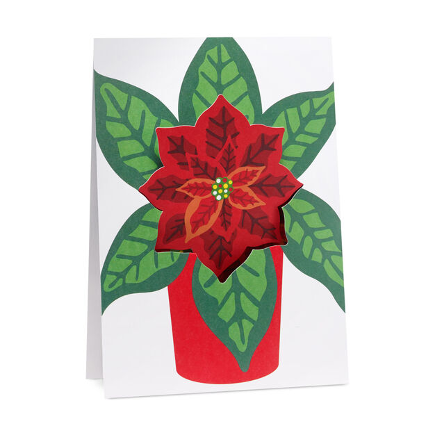 Festive Poinsettia Holiday Cards in color