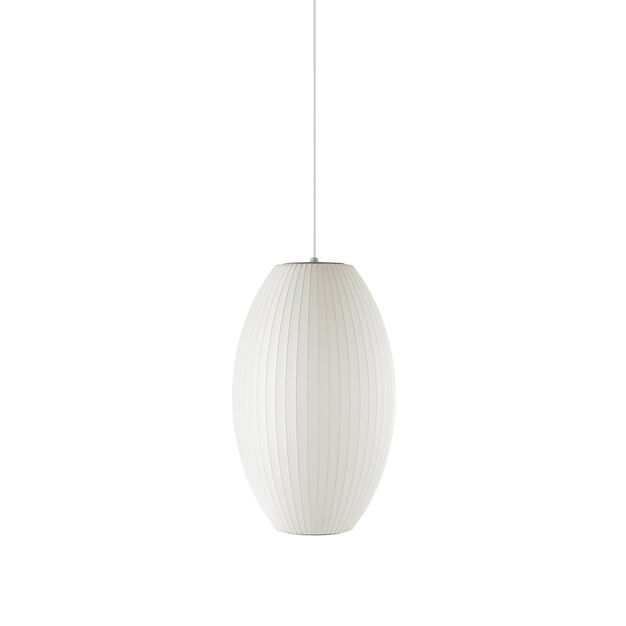 George nelson bubble lamp cigar pendant moma design store george nelson bubble lampreg cigar pendant in color aloadofball Image collections