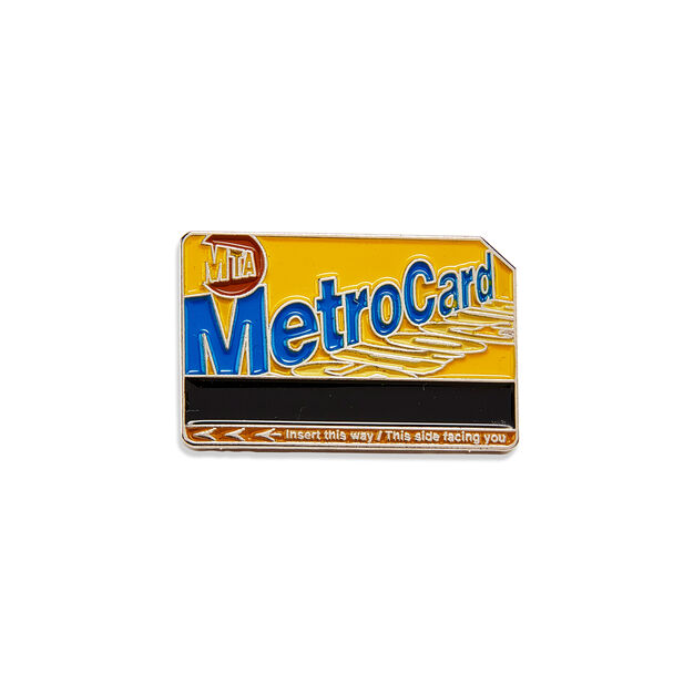 Metro Card Enamel Pin in color