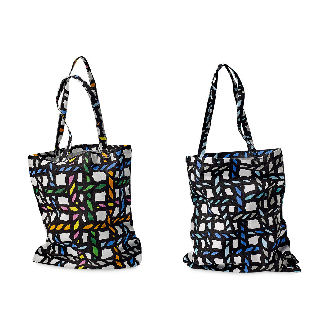 HAY Richard Woods Tote Bag in color Blue