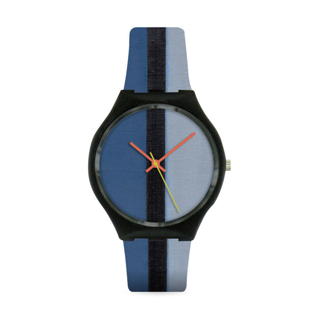 Mondrian Blue Watch in color