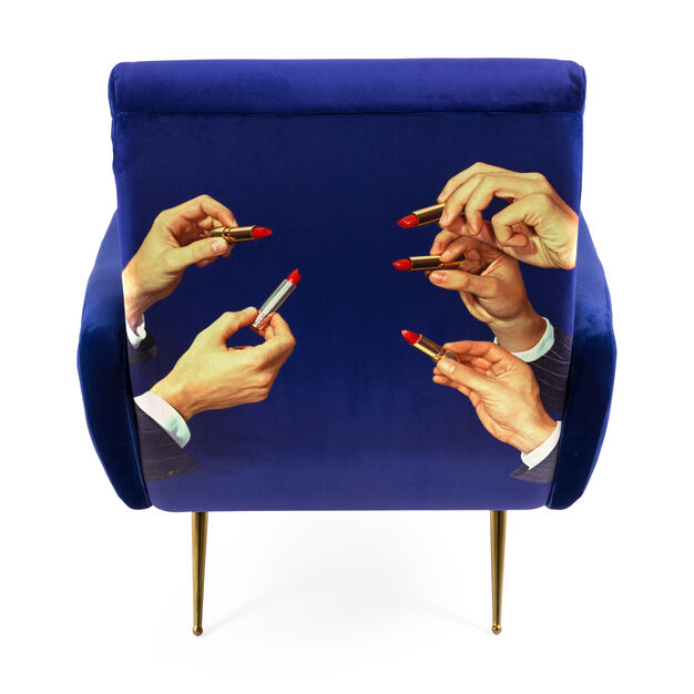 Seletti Wears Toiletpaper: Lipsticks Armchair in color